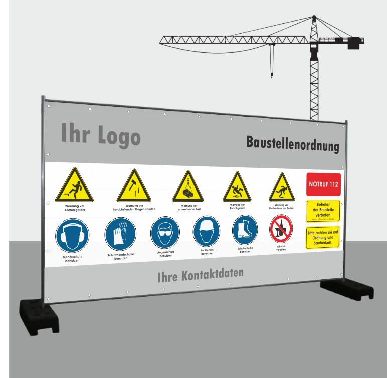 "Bauzaunbanner ""Baustellenordnung"""